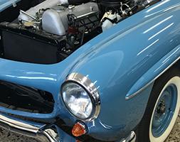 Αποκατάσταση κλασικού Mercedes Benz