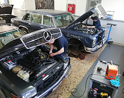 Service classic Mercedes Benz